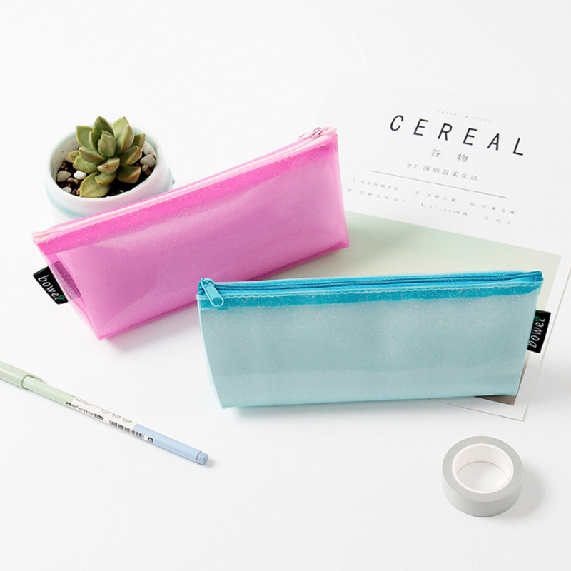 Creative Pencil Case Quality PU School Supplies <font><b>Bts</b></font> Stationery Gift Pencilcase School Cute Pencil Box SchCool Stationery image