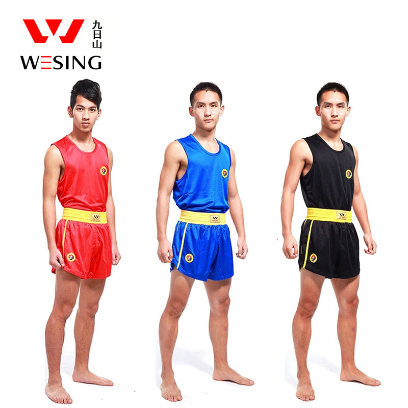 Wesing Adult Children Sanda Uniform Breathble Red Blue Black Wushu Sanda Suit For Training Competition 2501c1