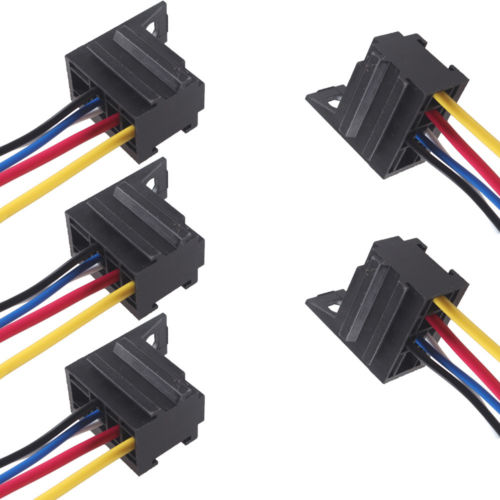 5pcs diy car motor 12v 12 volt 30a amp duty relay harness. Black Bedroom Furniture Sets. Home Design Ideas