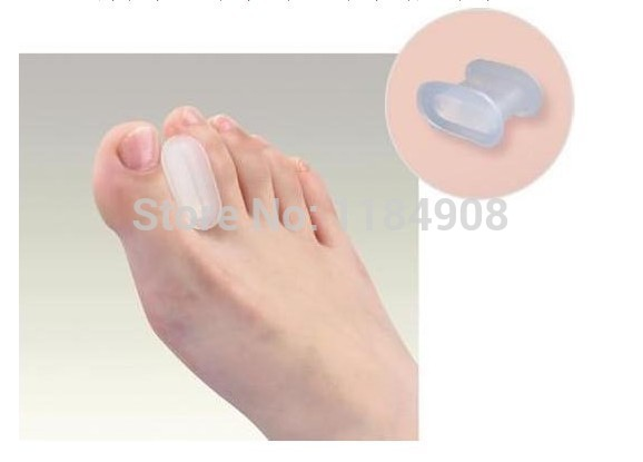 2017 Pedicure 2pcs =1pair 2 In1 Silicone Toe Gel Hallux Valgus Relief Pain And Correction Separator Foot Care Tool