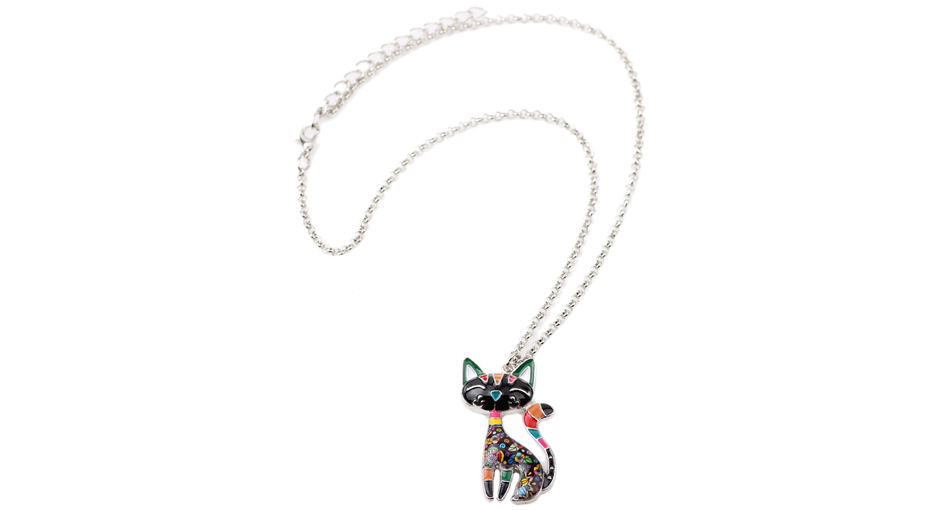 Maxi Enamel Cat Necklaces