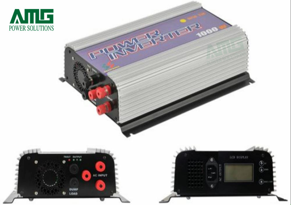 1000W MPPT On Grid Tie Wind Turbine Generator Inverter LCD Display Indoor Residential Home Use 5000w single phrase on grid solar inverter with 1 mppt transformerless waterproof ip65 lcd display multi language