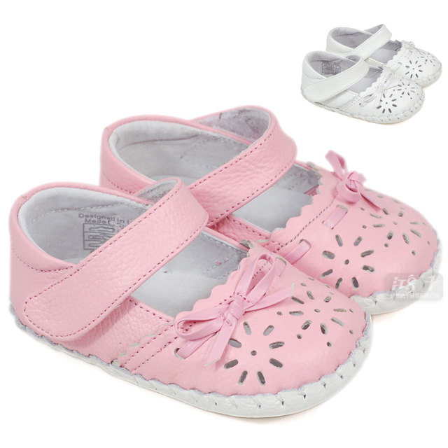 Sheep summer leather cutout female baby shoes indoor shoes