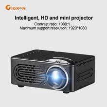 Gigxon-G814 super mini bolsillo LLEVÓ el proyector proyector 30 lumens 1000:1 ratio 25-80 pulgadas para el juego