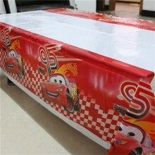 1 Cái 1.08X1.8M Hoạt Hình Xe Ô Tô Tiệc Chủ Đề Sinh Nhật Dùng Một Lần Bàn Vải Bàn Bản Đồ Dự Tiệc Cung Cấp Trang Trí