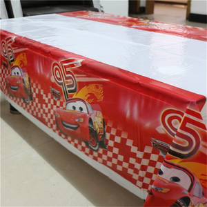 Image 1 - 1pcs 1.08x1.8M Cartoon Cars Theme Party Birthday Disposable Table Cloth Table Cover Map Party Supplies Decoration