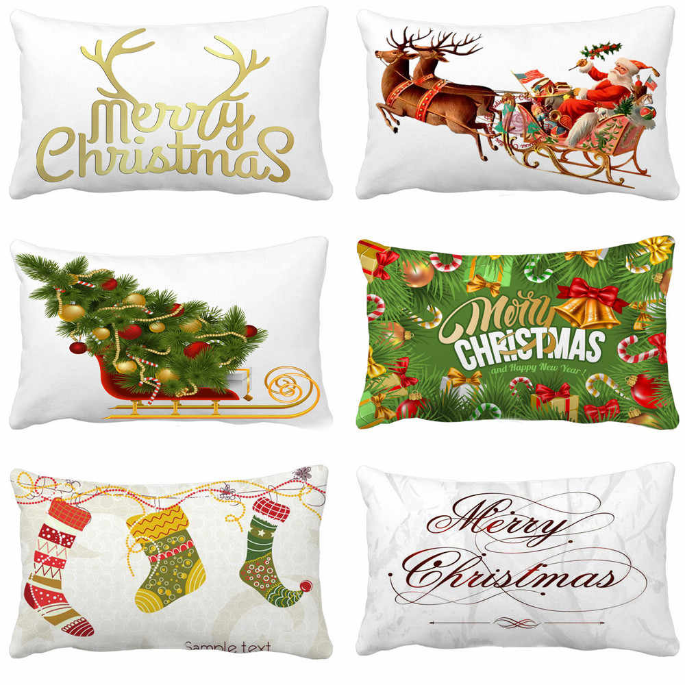 2018 Christmas Party Decoration Christmas series Pillow Sofa navidad Throw Cushion Cover home decoration decor for the new year