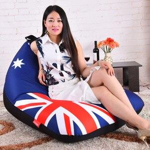Image 3 - LEVMOON זאק אוסטרליה דגל מושב כיסא ספת פוף מיטת שקית שעועית הפופים כיסוי ללא מילוי מקורה