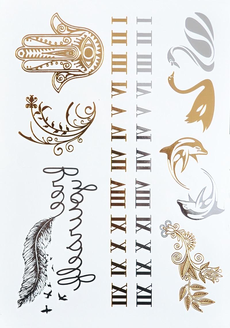 Are Roman Numeral Tattoos Lame: #357 Roman Numerals Tattoo Metallic Jewelry Tattoos