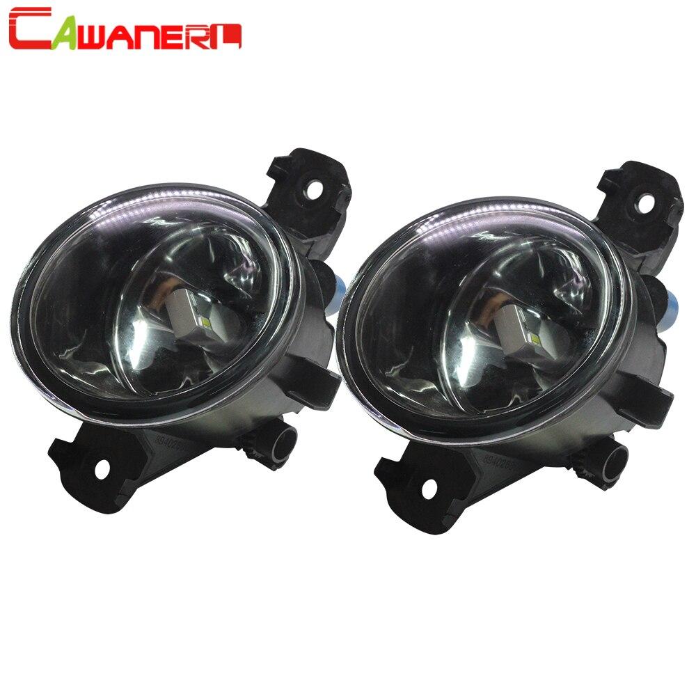 Cawanerl For Nissan Versa 2012 2013 2014 2015 Car Front Fog Light Assembly Lampshade + H8 H11 LED / Halogen Lamp 12V Styling