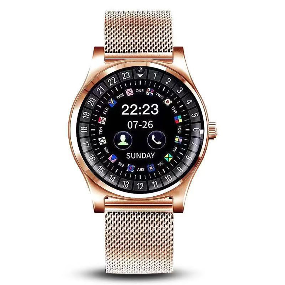 Waterproof Smart Watch Stainless Steel Bluetooth Smart Watch Support TF SIM Card Camera For IOS iPhone Android Phone