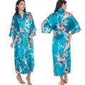 Lakeblue Más Nuevas Mujeres Albornoz Kimono Robe Vestido de La Noche ropa de Dormir de Satén de Seda De Yukata de dama de Honor de La Boda Más El Tamaño S-XXXL 010413