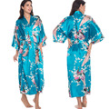 Lakeblue Newest Women Kimono Bathrobe Bridesmaid Wedding Robe Night Gown Sleepwear Silk Satin Yukata Plus Size S-XXXL 010413