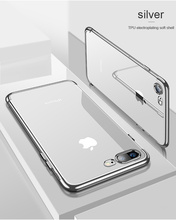 SIXEVE Silicon Clear Soft Case for iPhone X 10 iPhone 6S 6 s 6Plus 6SPlus iPhone 7 8 7Plus 8Plus slim Cell Phone Cover Casing