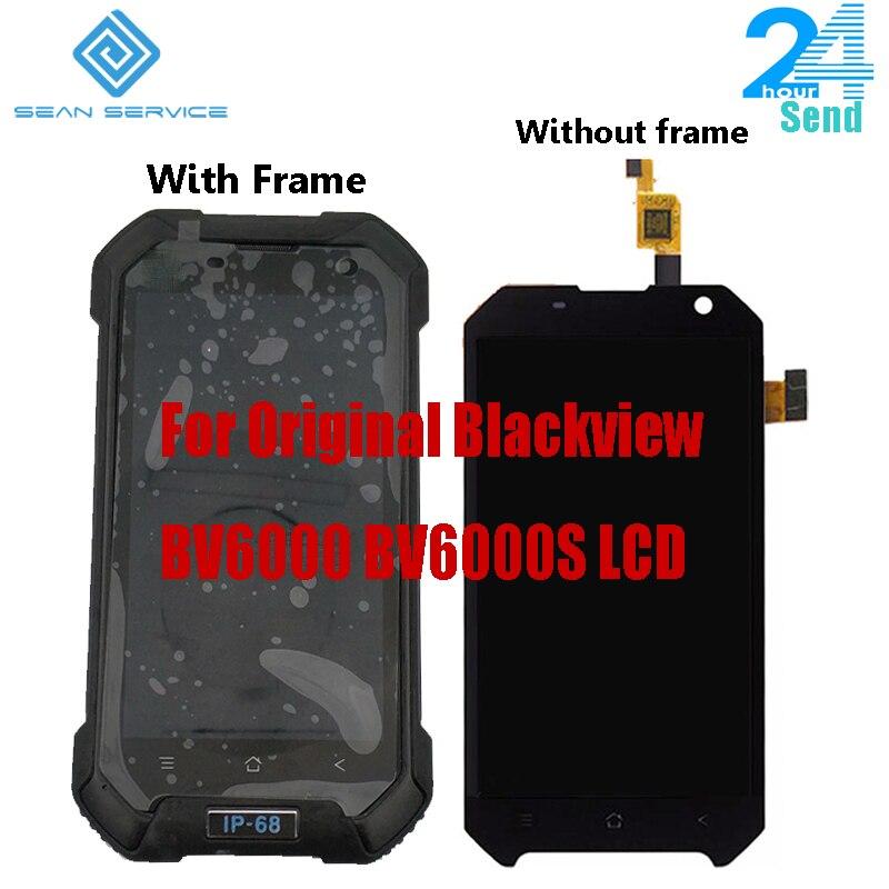 4.7 polegada Para O Original Blackview BV6000S BV6000 Display LCD + Montagem Digitador Da Tela de Toque 1280x720 Toda a Versão Android 7.0 6.0