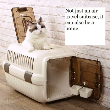 Cat Air Plane Transport Box Breathable Cat Puppy Dog Pet Travel Carrier Box For Cats And Small Dogs Pet Cat Cage WLYANG