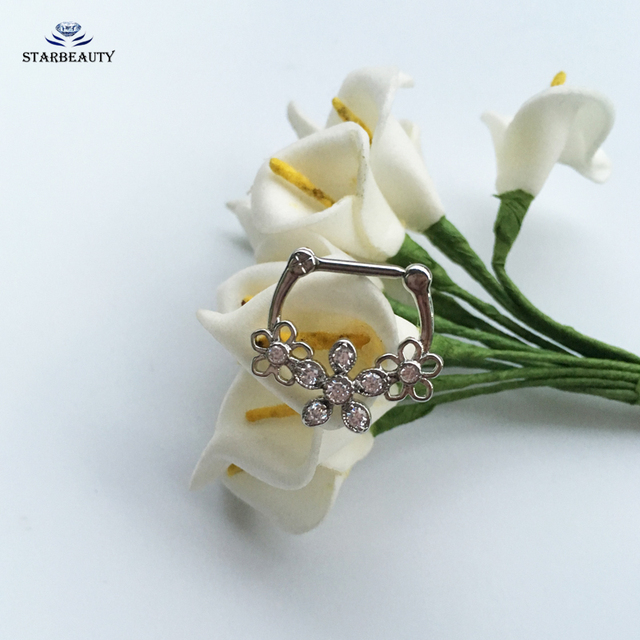 1PC Triple Flowers Nose Ring