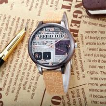 2017 reloj de manera del estudiante estilo reino unido relojes kezzi reloj de la marca de moda casual estilo periódico k1146 dial correa de cuero de la venta caliente