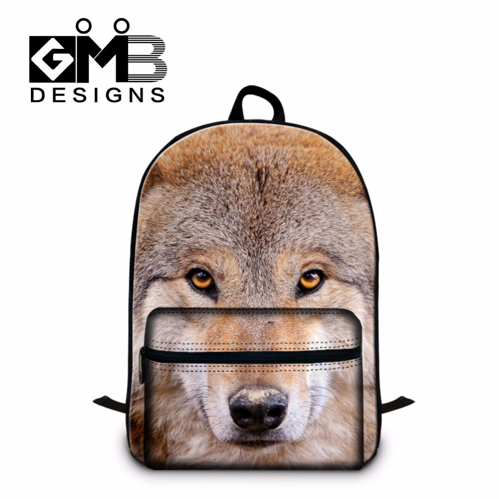 Aliexpress.com : Buy New Wolf Printed Backpacks for Men,College ...