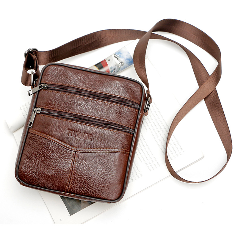 New brand small men bag genuine leather messenger bag high quality fashion men crossbody mini shoulder bags limited buying mini casual bags multifunction leather messenger bag men s fashion pocket brown brand of small bags high quality