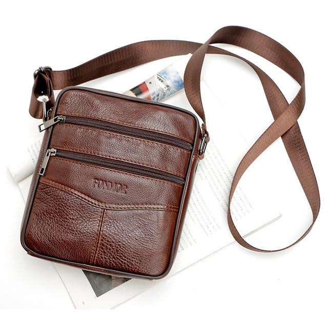 New brand small men bag genuine leather messenger bag high quality fashion  men crossbody mini shoulder 2296abd6b921a