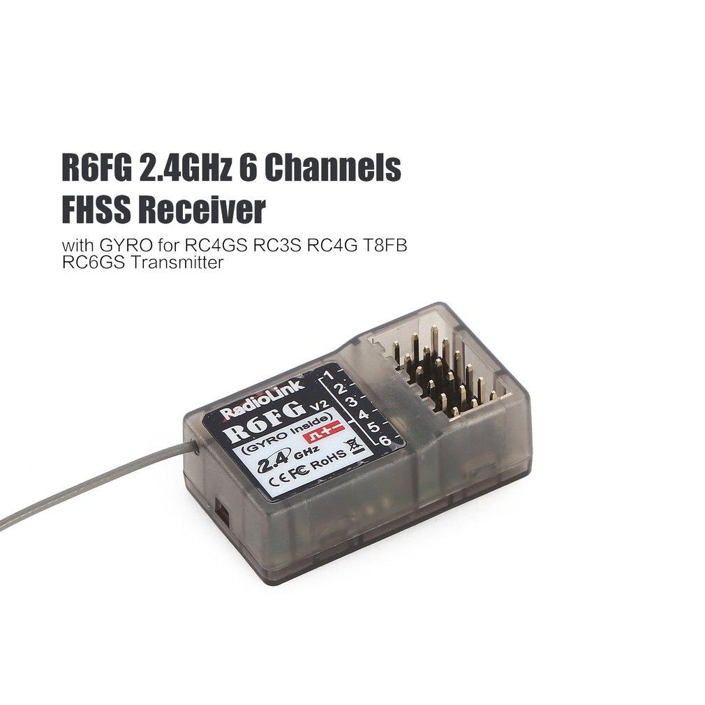 Hot!Radiolink R6FG 2.4GHz 6 Channel FHSS Receiver Radio Control System Gyro Integrant For RC4GS RC3S,RC4G T8FB TransmitterF21425