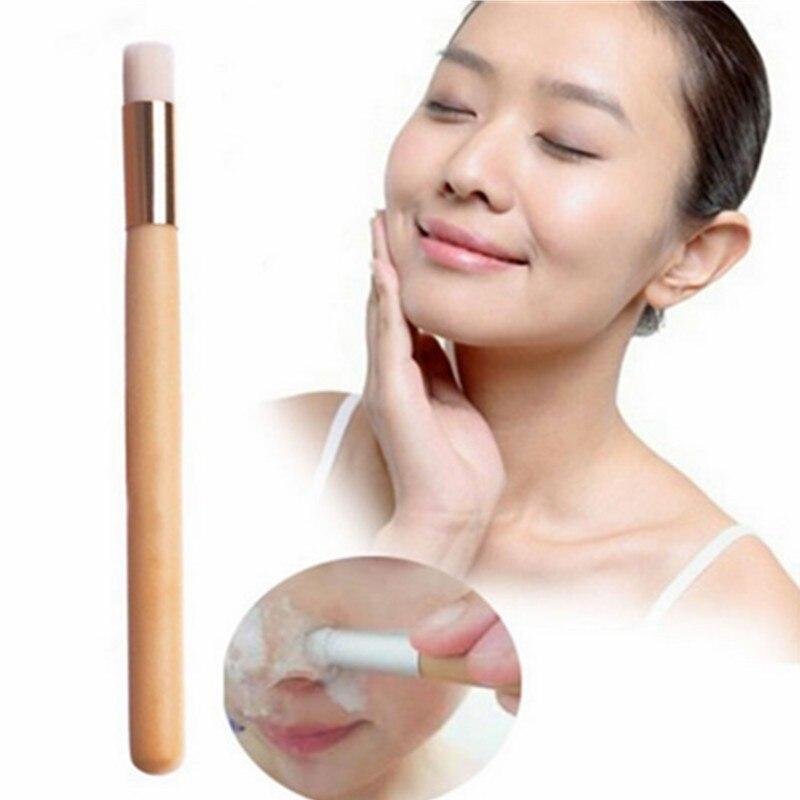 1 шт Черноголовых Cleaner умывание скраб для лица очищающий дерево Золотая Ручка Кисть умывания Красота инструменты