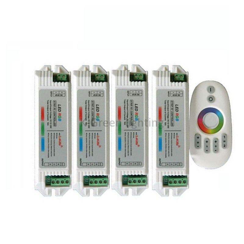 1X2.4G tactile RVB LED de contrôle DC12-24V entrée 1 pièces 2.4G télécommande RF + 4 pièces 2.4G RVB contrôleur livraison gratuite