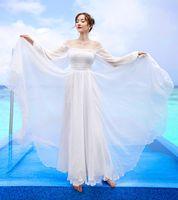 Женское платье Высокая талия шифон цена + Maldives праздник предотвращается в пыли корсет 0023 платья белый 120