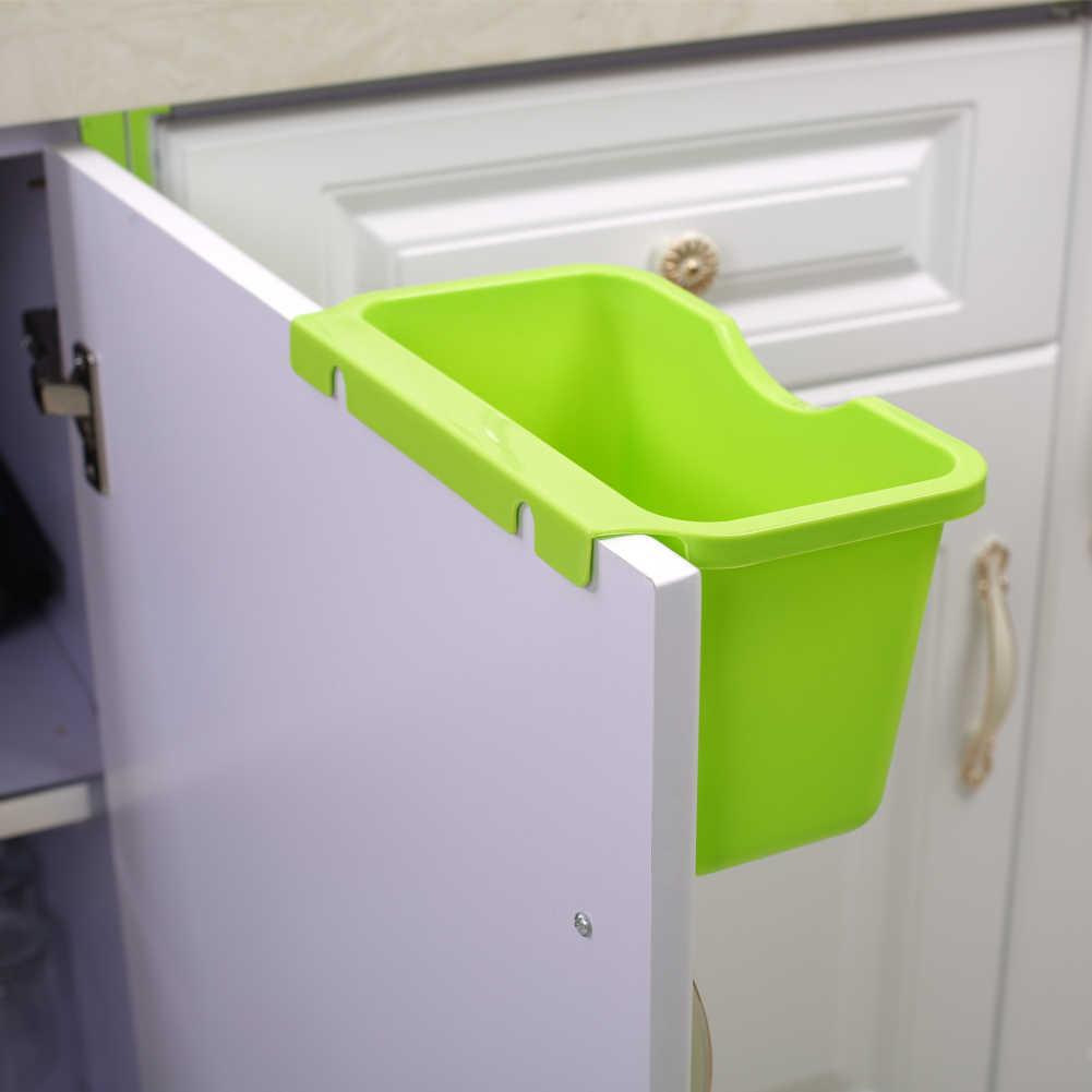 1Pc Utensílio de Cozinha Pendurado Lata de lixo Da Porta Do Armário De armazenamento de Plástico caixa de Segurar Lixo Caixa De Lixo de Lixo Pendurado Pode armazenamento Baske