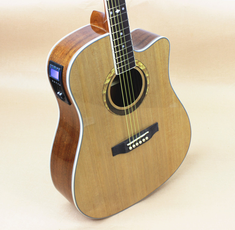 Electro Acoustic Electric Steel-StringFlattop Guitar Dreadnought 41 Inch Guitarra 6 String Picea Mahogany Tuner Cutaway two way regulating lever acoustic classical electric guitar neck truss rod adjustment core guitar parts