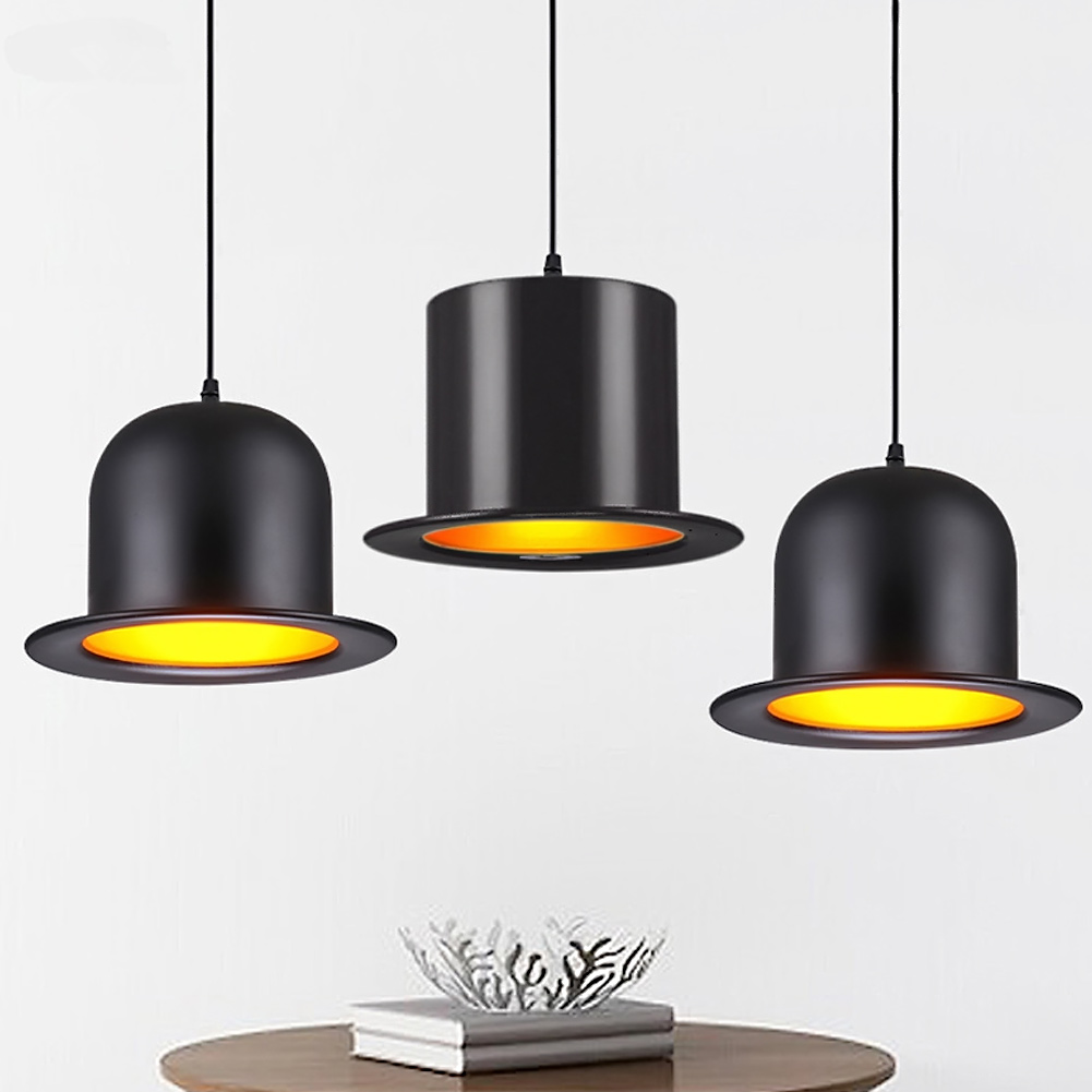 moderna lampada a sospensione in alluminio di jazz top hat luce per la cucina creativa lampada