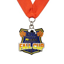 Factory Price Soft Enamel Metal Medal for Sport cheap custom Personalized sports medal and ribbons