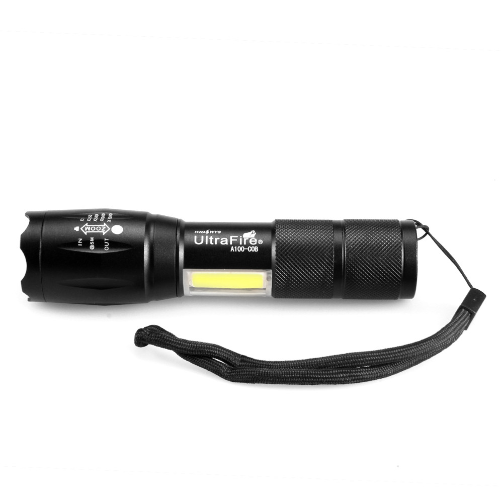 Explosion Models COB Work Light Flashlight 1800LM XM T6 Zoomable 3 Mode Lanterna LED Flashlight Lights Camping Hunting Flashligh in LED Flashlights from Lights Lighting