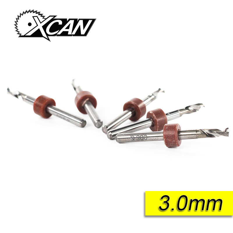 XCAN 10 Pcs 3.0mm Import Carbide PCB Drill Bits electrical mini drill tungsten carbide drill bits Set Woodworking Tools