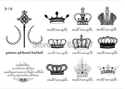 crown tiara temporary tattoo transfers skin sticker body art d 116 rh aliexpress com tiara tattoo meaning tiara tattoo drawing