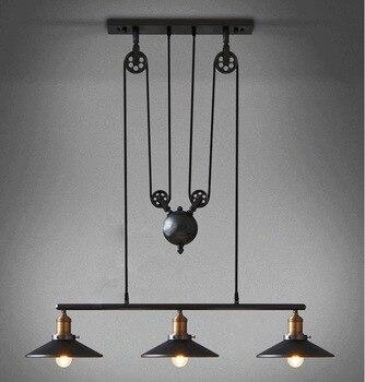 Modern Lofy Pulley Pendant Lamp Creative Vintage Design Coffee Shop Restaurant Decoration Hanging Lights Free Shipping