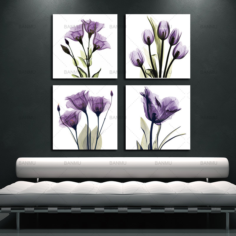 BANMU Wall Art Picture Canvas Painting Print Elegant Tulip
