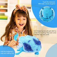 2018 New Electronic Pet Hedgehog Rolling Walking Music Light Intelligent Induction Baby Electronic Toys Children Kids Gifts