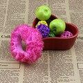 4 Cores Sólidas Scrunchy Elástico Faixas de Cabelo Mulheres Menina Kid Crianças Cabelo Cocar Acessório de Cabelo Dança Ballet Rosa Decoração