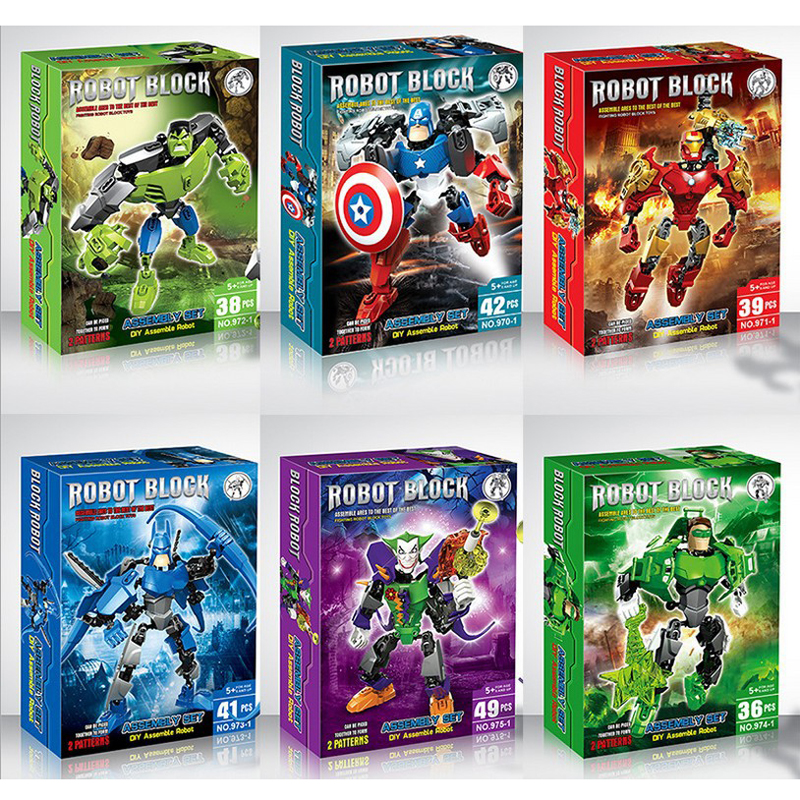 2016 New <font><b>The</b></font> <font><b>Avengers</b></font> <font><b>Marvel</b></font> <font><b>DC</b></font> <font><b>Super</b></font> <font><b>Heroes</b></font> <font><b>Series</b></font> <font><b>Action</b></font> figures Building Block Toys New Kids Gift