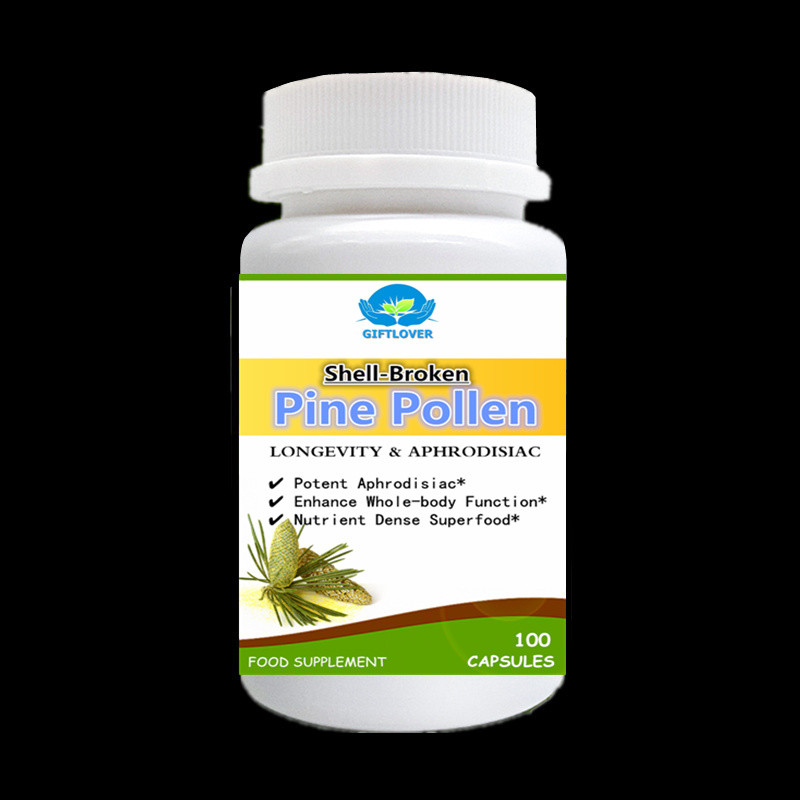 Shell-Broken Pine Pollen,Cracked Cell Wall,Longevity Support Enhance Whole-body Function,Nutrient Dense Superfood,100pcs/bottle 100pcs bottle ahcc supplement powerful supports immune health liver function maintains natural killer cell activity
