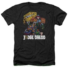 Judge Dredd-Mens Biker dan Lencana Heather T Shirt 2018 Tshirt Homme Tees(China)