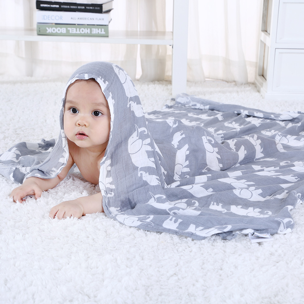 Newborn Stroller Blanket Baby Blanket Bamboo Super Soft Muslin Baby Swaddle For