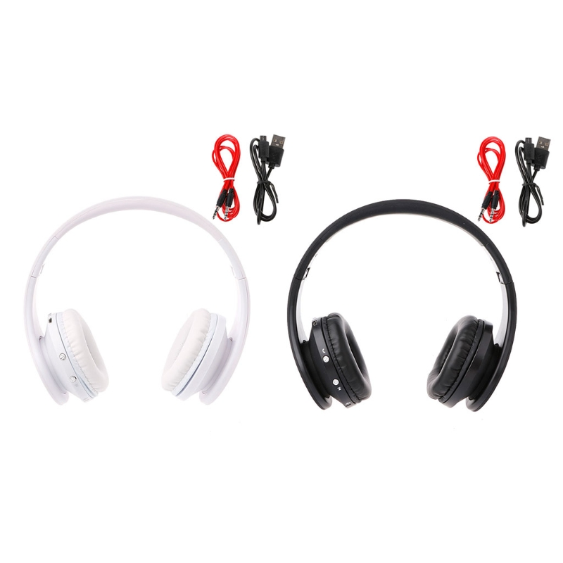 Foldable Bluetooth Wireless Headset Wired Stereo On Ear Headphone With Microphone foldable on ear wireless stereo bluetooth headphones headset supports fm