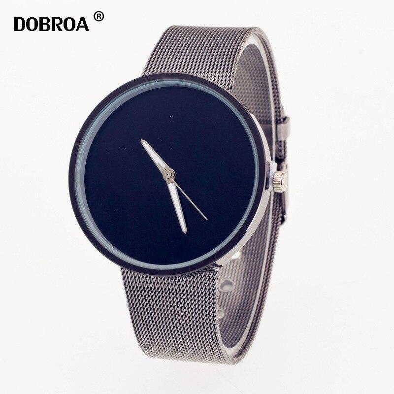 купить DOBROA Mens Watch Relojes Hombre Stainless Steel Wrist Watch Fashion Men Luxury Business Crystal Analog Quartz Wrist Watch Clock по цене 286.45 рублей