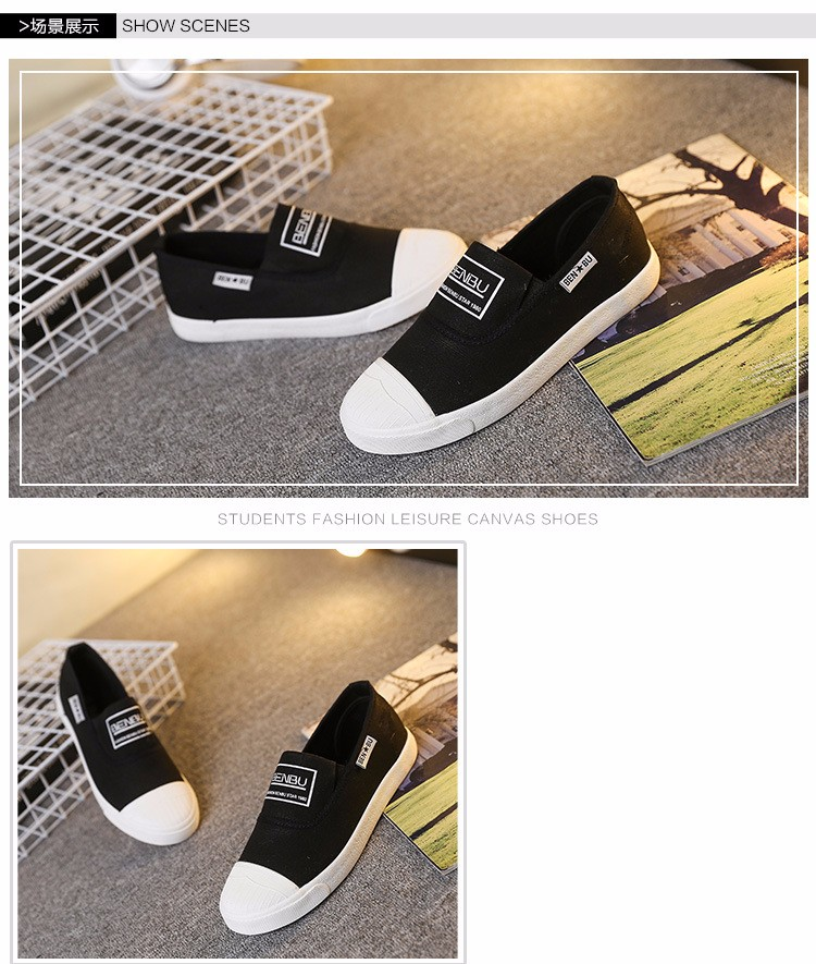 KUYUPP Brand New Woman White Shoes 2016 Summer Casual Flat Slip On Canvas Shoes Round Toe Women\'s Flats Big Size 35-40 PX107 (12)