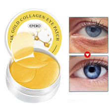 EFERO 60pcs Gold Eye Mask Reduce Dark Circles Eyes Bags Puffiness Anti Wrinkles Collagen Gel Patches Face Care