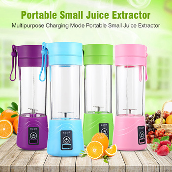 Mélangeur mélangeur Portable polyvalent 380 ml en plastique charge presse-agrumes extracteur mélangeur Mode USB oeuf fouet/presse-agrumes/mélangeur de coupe de nourriture