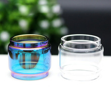 2pcs /lot 1 rainbow + 1 clear ecig Replacement Bulb Glass clear glass Tube For tfv8 TFV12 prince big baby RBA x-baby vape pen 22 replacement glass for smok tfv12 prince tfv12 tfv8 tfv8 big baby and vape pen 22